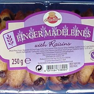9. cz raisin madeleine fingers