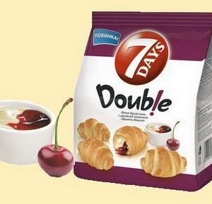 7 days mini croissant vanilla cherry