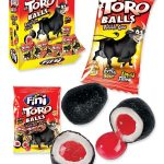 Fini Toro Balls bubble gum display